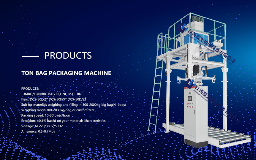 High precison fodder ton bag packing machine with 15-30 bag/hour