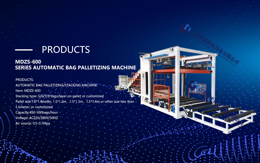 Automatic intelligent hand stacking machine with 500 bag/hour